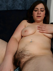 Chubby and hairy pussy